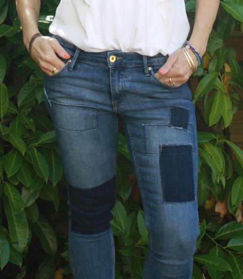 détails jean patch