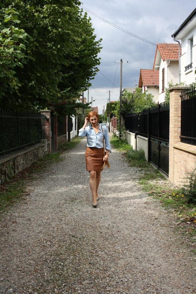 denim_shirt_leather_skirt